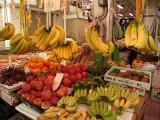 市場に並ぶバナナ達